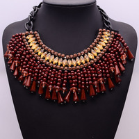 2015 Vintagesimple decorative accessories exaggerated retro beaded necklace