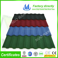 Fashionable stone coated metal sheet bond roofing tile
