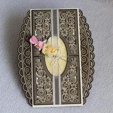 Popular branded gift models wooden invitation card