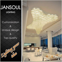 China supplier hot new glass crystal chandelier flower ceiling light cover replacement for home deco