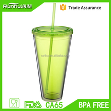 manufactures 3d promotional big plastic cups with lid and straw, cold cup