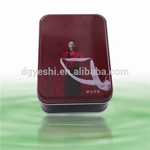 Custom Printed Logo Tin Plate Biscuit Can Rectangle
