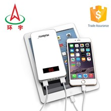 20000mAh selling portable mobile power bank with flashlight