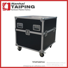 Heavy Duty Black Aluminum Flight Travel Case Equipment Storage Case