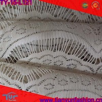 popular eyelash stylish dressing made lace fabirc ,white bleached chevron chantilly lace fabric