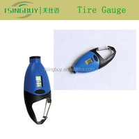 Good quality universal tire gauge kpa with LCD digital display and mini keychain