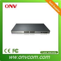 16 Port Power Over Ethernet IEEE 802.3af Managed Gigabit Network Switch