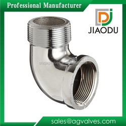 """1/2"""" NPT Chrome Plated 90 Degree Elbow Female Brass Water Pipe Fitting"""