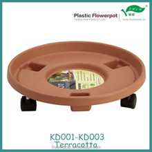 KD001-KD003 Terracotta plant saucer with wheels