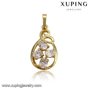 33149 nuevo diseño de oro Gran Piedra colgante, collar clave significado colgante