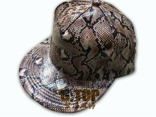 Fashion fake snakeskin leather hats and caps men