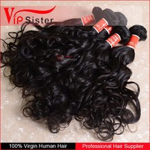 Indian Wholesale Natural Wet and Wavy Remy 100g indian hair weave
