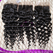 100% Human Hair without processing and dying peruvian hair with closure