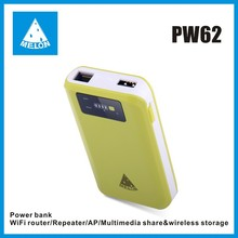 Melon PW62, plug and play travel wifi router,power bank,Ethernet port