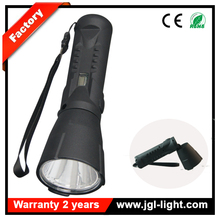 Easy carrying CREE 3W LED rechargeable flashlight 5JG-9915 power display portable emergency torchlight