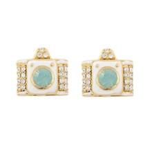 2015 hot selling 18K gold camera earrings