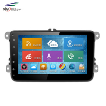 Factory price high quality 8 inch android in dash car dvd player with gps and bluetooth mould for vw cars