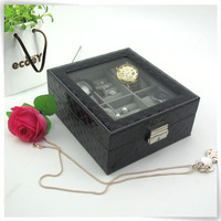 cute pu leather marble masquerade matte black jewelry boxes accessories