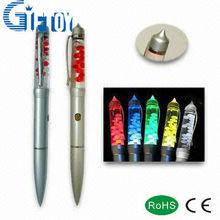 Novelty multicolor LED flashlight oil pen