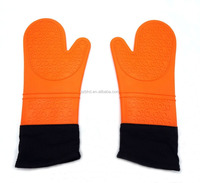 Best Silicone Oven Mitt, Protection with Extra Long Thick Cotton Lining - Heat Resistant Potholder Gloves for Cooking & Bbq