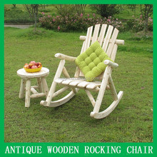 outdoor antique wooden rocking chair