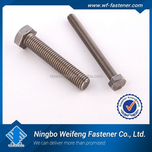 DIN 601 Hexagon Bolts Use Steel/Stainless Steel/Brass/Aluminum