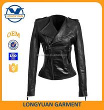 OEM service PU jacket clothing women jacket motorcycle