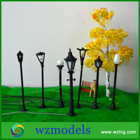 miniature alloy scale model street light for architectural model layout/train layout/scene layout