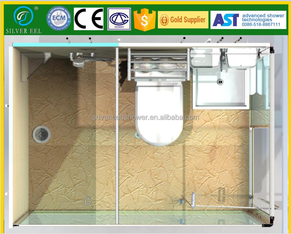 Completar todo en un diseño modular prefabricada smc confeccionada módulo de baño ducha