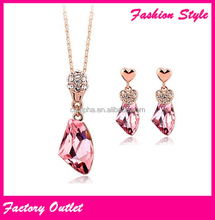 Current hot gold plated fashion jewelry sets