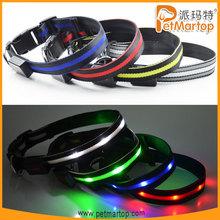 adjustable LED dog collar dog collar with CE&ROHS TZ-PET6100 fashion design dog collars