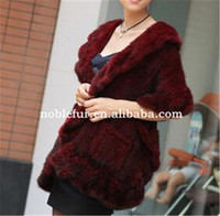 2015 fashionable ladies mink Fur female winter lace shawls with big collar