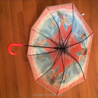 Princess pvc marvelous gift sraight automatic umbrella