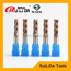HRC45 solid carbide roughing end mills cnc milling cutting machine tools