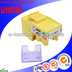 Yellow best sell UTP rj45 cat 6 keystone jack