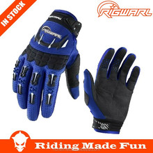 RIGWARL High Quality Motorcycle & Auto Racing Blue Racing Gloves Made in China With OEM Serice