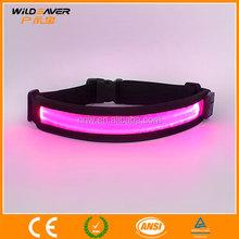 Colorful flashing running belt reflective belt with led lights
