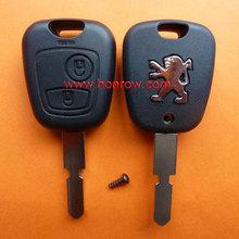 Peugeot 406 llave del telecontrol de 2 botones con ID46 chip de 433Mhz hoja