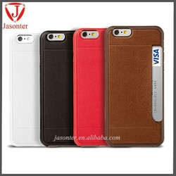 2015 Top ultra-thin with card slot top layer genuine leather cover for iphone 6 plus,cell phone leather case for iphone 6