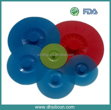 Food grade safe silicone suction lids (6 in pack)