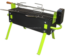 Outdoor Spit Roast Stainless Rotisserie skewer Charcoal BBQ Grill