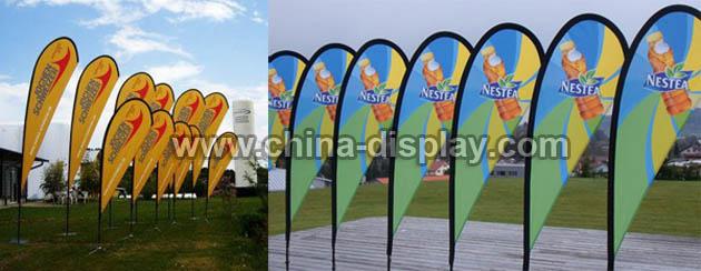 Outdoor teardrop banner, teardrop flag, teardrop beach flag