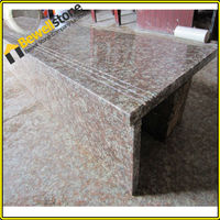 China Lowes Natural Stone G687 Granite Prefabricated Stairs With Non Slip Stair Treads