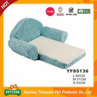 Letters Printed Foldable Sofa Shape Memory Foam Pet Dog Beds