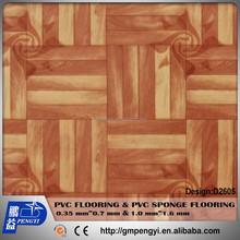 Manufactory supply pvc marble sponge plastics flooring 0.55mm