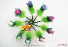 Yiwu gift ball-point pen wholesale spice simulation rose buds sock flower ballpen