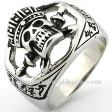 2012 stainless steel skull head rings