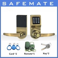 low price Remote Control Security safe Password+Key+RF electronic key door lock
