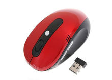 Portable Optical Cheap Wireless Mouse USB Receiver RF 2.4G For Desktop & Laptop PC Computer Peripherals Accessories Red Black
