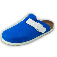 classical cork footbed clogs with wool felt upper 5 colors available